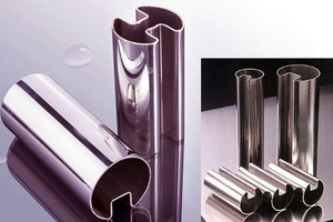stainless steel slotted handrail tube